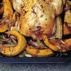 Bengali-spiced Squash With Ginger-roasted Chicken Recipe