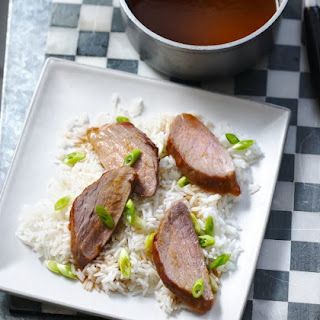 Glazed Pork Tenderloin In Chinese Plum Sauce