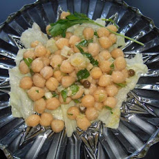 Libyan Marinated Chickpeas