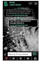 Screenshot of GO SMS Theme - Mono Grunge