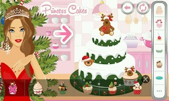 Screenshot of Princess Cakes Christmas