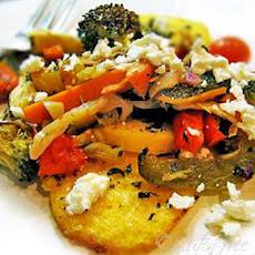 Roasted Vegetables on Broiled Polenta