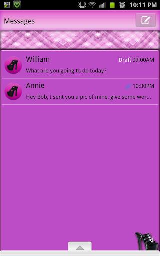GO SMS - Sexy Stilettos SMS
