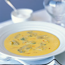 Poached Oysters in Fennel-Saffron Soup