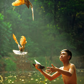 Morning Call by Andreas Sugiarto - Babies & Children Children Candids