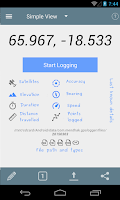 Screenshot of GPS Logger for Android