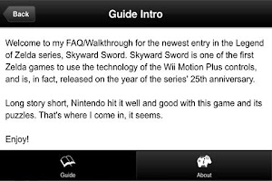 Screenshot of Guide - Zelda Skyward Sword