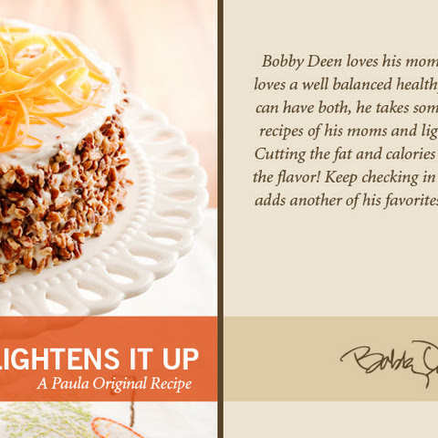 Bobby's Lighter Carrot Cake