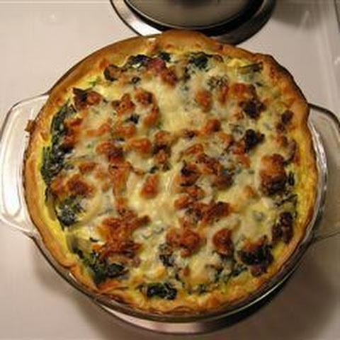 Spinach and Red Chard Quiche Recipe | Yummly