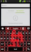 Screenshot of Neon Aquarius Keyboard