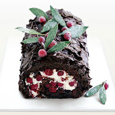 Dark Chocolate & Cranberry Roulade
