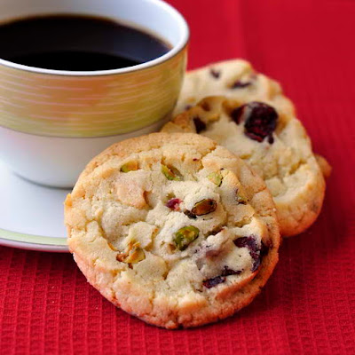Cranberry Pistachio White Chocolate Bake-off Cookies