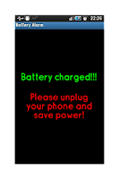 Screenshot of Battery alarm