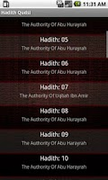 Screenshot of 40 Hadith Qudsi