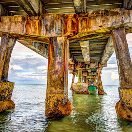 Under the Pier by Matthew Haines - Buildings & Architecture Bridges & Suspended Structures ( bridge )