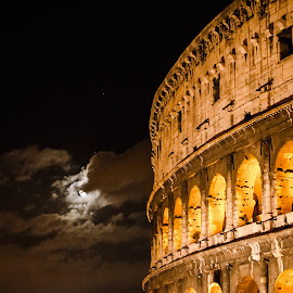 Hidding Moon in Rome by Andrea Riccobene - Buildings & Architecture Public & Historical