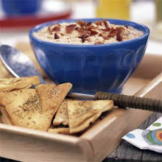 White Bean and Bacon Dip with Rosemary Pita Chips
