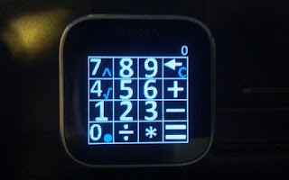 Screenshot of Calculator for Sony SmartWatch