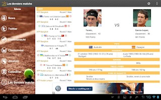 Screenshot of Tennis News