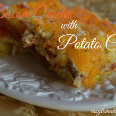 Bacon Quiche with Potato Crust