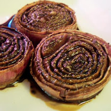 Roasted Red Onions with Balsamic Vinegar