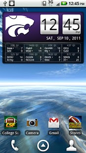 Kansas State Live Clock - screenshot