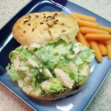 Caesar Salad Sandwiches With Chicken