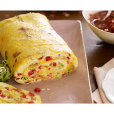 Bacon Omelette Roll with Salsa