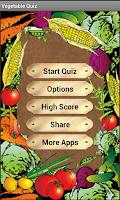 Screenshot of Vegetable Quiz
