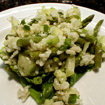 Rice, Asparagus and Cucumber Salad