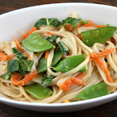 Udon Noodles w/ Asian Vegetables & Peanut Sauce