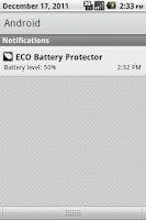 Screenshot of ECO Battery Protector