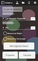 Screenshot of Soap Lye Calculator