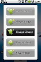 Screenshot of Ringer mode locker