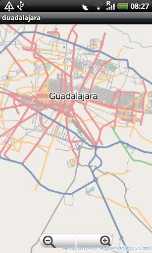 Guadalajara Street Map