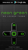 Screenshot of NEON GREEN Laser Clock Widget