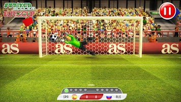 Screenshot of Striker Soccer Euro 2012
