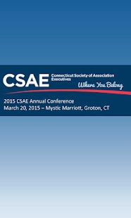 CSAE Annual Conference - screenshot