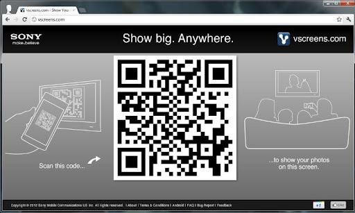 vscreens photo sharing beta