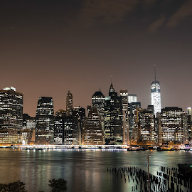 New York by night  by Nicola Marrama - City,  Street & Park  Skylines ( #city #skylines #photography #color, #new york #travel )