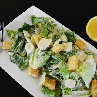 Caesar Salad with Home Made Caesar Dressing
