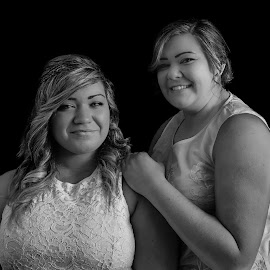 Sisters by Nicole Williams - Novices Only Portraits & People ( sisters female b&w two )
