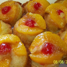 Peach Upside Down Muffins