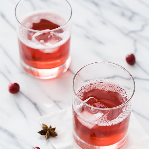 Spiced Cranberry Spritzers