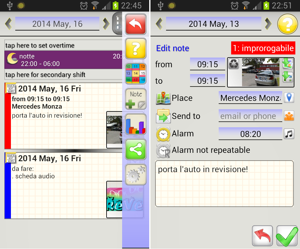 WorkShift Agenda Screenshot 4