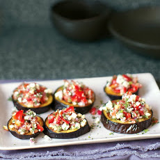 Roasted Eggplant with Tomato and Mint