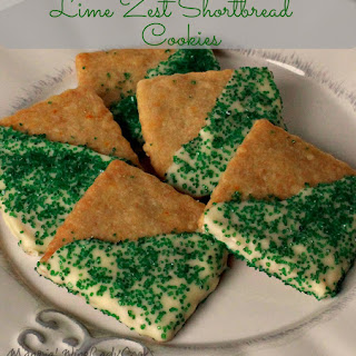 Lime Zest Shortbread Cookies