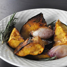 Balsamic Glazed Acorn Squash with Shallots and Rosemary
