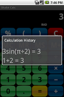 Screenshot of Shake Calc - Calculator