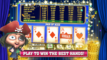 Screenshot of Video Poker with Pirates